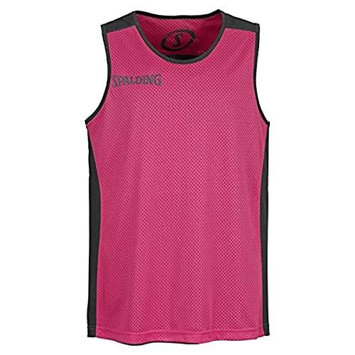 Spalding - Camisa de baloncesto, color negro / rosa, talla XS