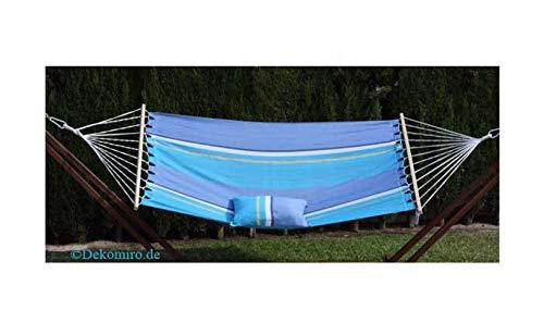 export sal hangmat Ocean blauw met spreidstok en kussensloop 295 cm zonder frame