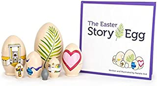 STORY EGG The Easter Colorful Nesting Toy with Resurrection Book – Great Christian or Catholic Gift for Children