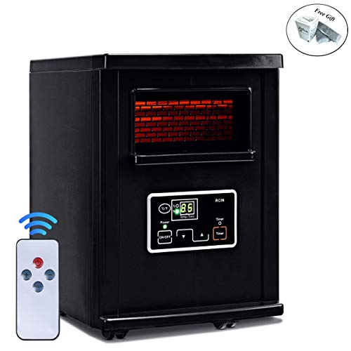 CWY 1500 W Electric Portable Remote Infrared Heater Black