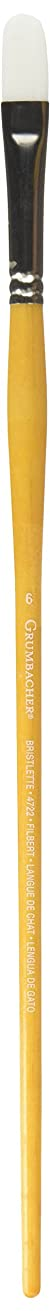 Grumbacher Bristlette Filbert Oil and Acrylic Brush, Synthetic Bristles, Size 6 (4722.6)