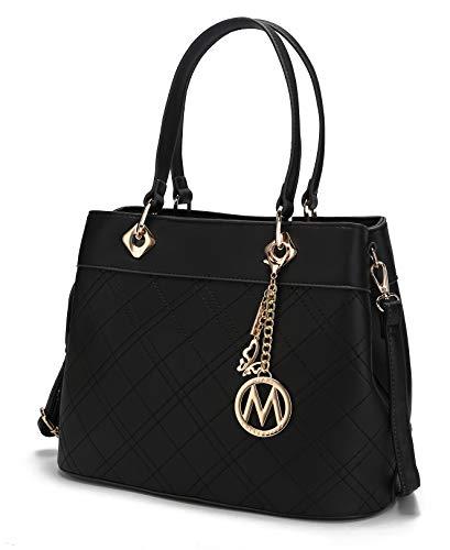 Top Handle Satchel Handbags Shoulder Bag Tote Purse Handbag Fantasia Handbag by Mia K.Black