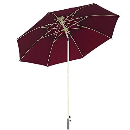 Sombrilla Parasol Jardin Doble techo parasol al aire libre con botón de inclinación / manivela, Patio Mercado del paraguas por un patio trasero, junto a la piscina, césped y jardín a prueba de viento
