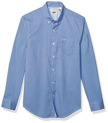 dockers Long Sleeve Button Front Shirts Camisa Abotonada, Devitto Delft, S para Hombre