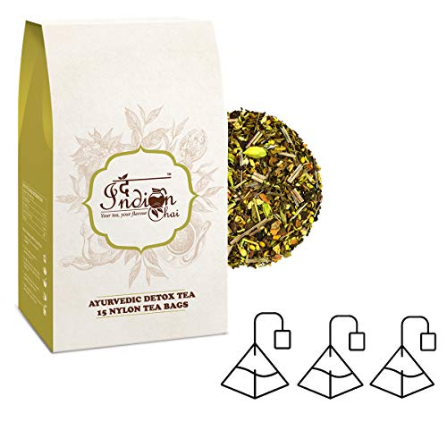 Ayurvedic Detox Tea 15 Pyramid Tea Bags Whole Leaves, Herbal Tea, Cleansing Tea