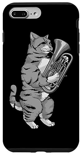iPhone 7 Plus/8 Plus Funny Cat Playing Euphonium | Cool Love Animal Musician Gift Case