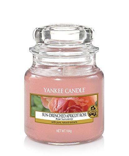 Yankee Candle Candela profumata in giara piccola | Rosa di albicocca | Durata Fino a 30 Ore