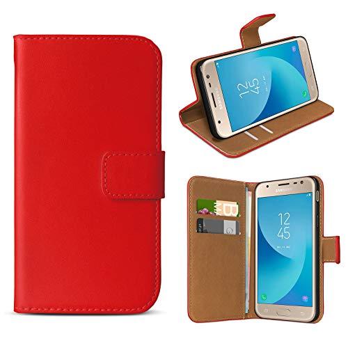 eFabrik Case per Samsung Galaxy J3 2017 Custodia (per Galaxy J3 Duos 2017 SM-J330 | 330F) Cover di Protezione Smartphone Accessori, Colore:Rosso