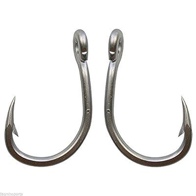 30pcs/lot Live Bait Fishing Hooks 420 Stainless Steel Big Game Saltwater Fishing Circle Hooks Strong Fishhooks(3/0-30PCS)
