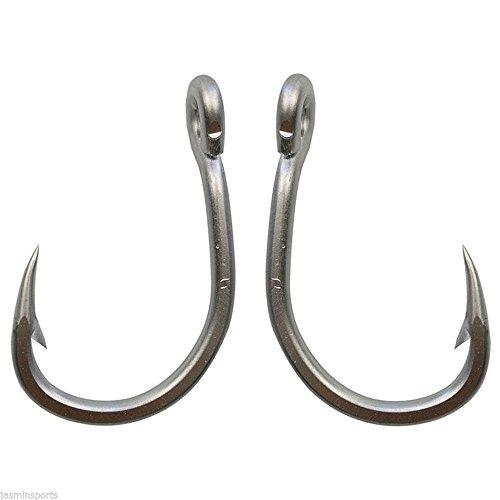 Easy Catch 10884Big Game Acciaio Inossidabile Ami da Pesca Acqua Salata Pesci Gancio Inline Cerchio Misura: 5/0–10/0