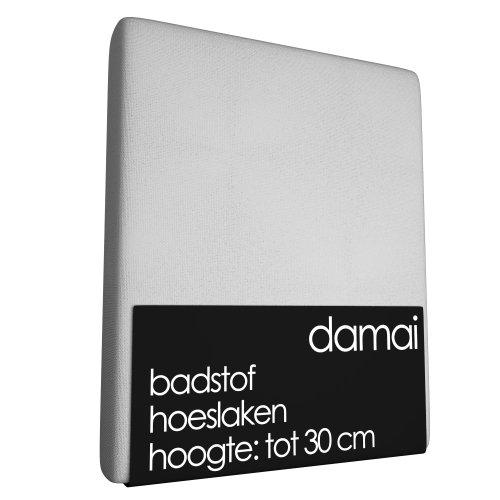 Spannbettlaken Damai Weiß (Frottee)-1-person 90 x 220 cm