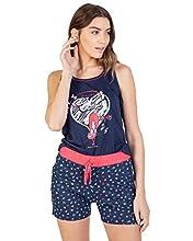 Massana Pijama de Mujer sin Mangas para Verano P211206 - Marino, M
