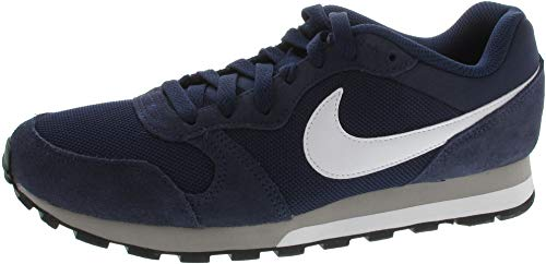 Nike Schuhe MD Runner 2 Midnight Navy-White-Wolf Grey (749794-410) 44 Blau