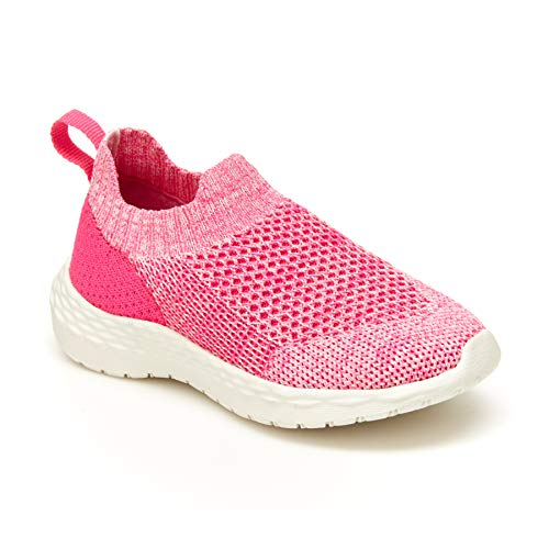 carter's Girls Greeny Running Shoe, Fuchsia, 7 Toddler