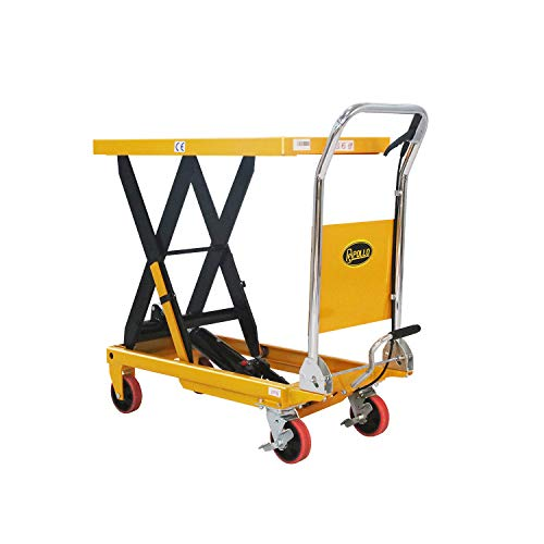 "Apollolift Single Scissor Hydraulic Lift Table/Cart 660lbs Capacity 35.4"" Lifting Height"