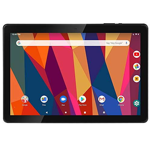Tablet 10 Zoll Android9.0, iProda Tablet-PC, 3 GB + 32 GB, Erweiterte Kapazität 128G, Ultra Dünn Metallschale, Quad-Core, 1,5 GHz, WLAN /Bluetooth/GPS/HDMI, 5000mAH Battery