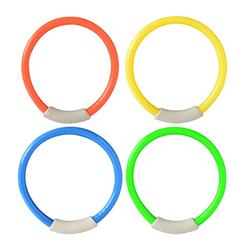 Nihlsfen 4Pcs/Set Dive Ring Swimming Pool Accessories Swimming Aid for Children Water Play Diving Sports Summer Beach Toy