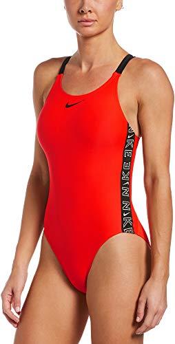 Nike Fastback One Piece Badeanzug Damen, Damen, Trainingsanzug, NESSB130-631, Karminrot (Bright Crimson), 36
