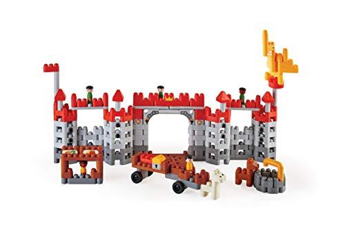 PolyM 760026 Mittelalterliche Burg, Flexible Bausteine, Lernspielzeug, Mehrfarbig