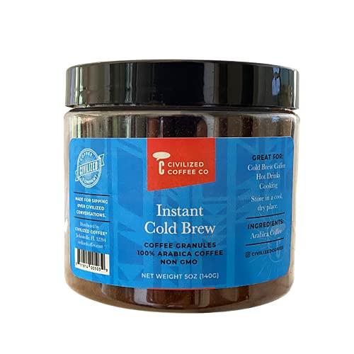 Civilized Coffee Instant Cold Brew Coffee Granules Non-GMO Jar (5 oz)