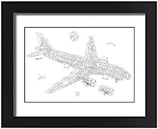 Media Storehouse Framed 15x11 Print of Airbus A320 Cutaway Drawing (4499470)