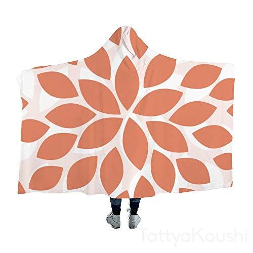TattyaKoushi - Manta con capucha, diseño floral, color rosa, algodón, Estilo 14., 40x51 Inch
