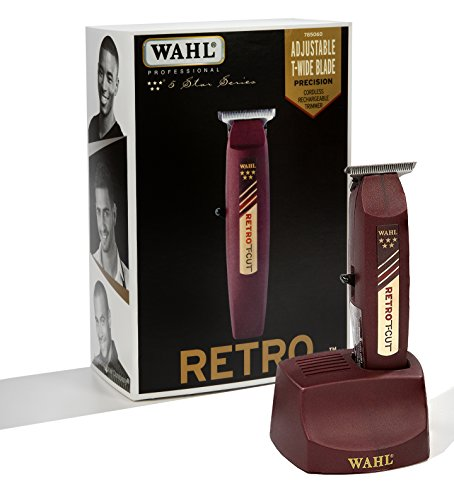 Wahl Professional 5-Star Cordless Retro T-Cut Trimmer with 60 Minute Run Time for Professional Barbers and Stylists - Model 8412
