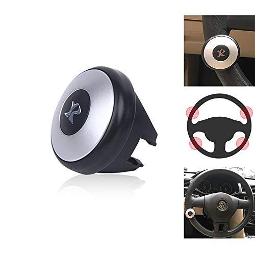 UMISKY Auto Lenkradknopf, Universal Auto Heavy Duty Lenkrad knopf Spinner Griff Knopf für Autofahrzeug(Silber)
