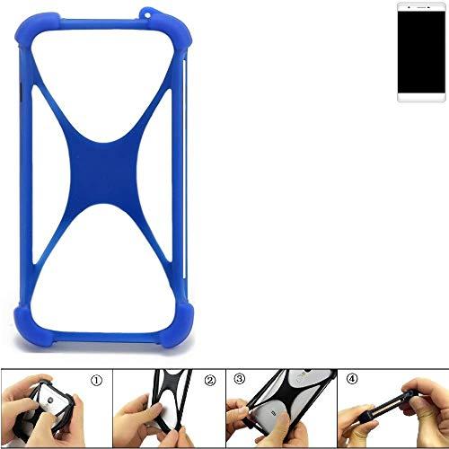 K-S-Trade® Handyhülle Für Phicomm Passion 2S Silikon Schutz Hülle Cover Case Bumper Silikoncase TPU Softcase Schutzhülle Smartphone Stoßschutz, Blau (1x),