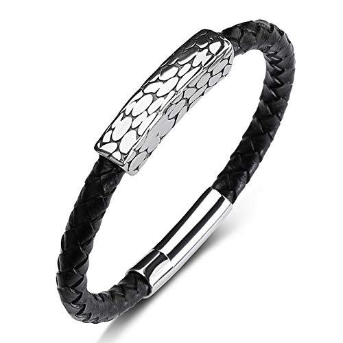 JYHW Hohe Qualität Trendy Männer Leder Armband Silber Nagel Kugel Edelstahl Schnalle Armband Hohe Textur Für Männer Frauen Schmuck B358