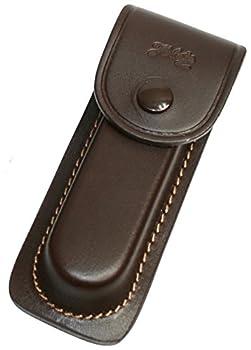 jowiha Étui en cuir marron avec coutures en 3tailles pour 91113cm Longueur manche avec passant de ceinture, marron