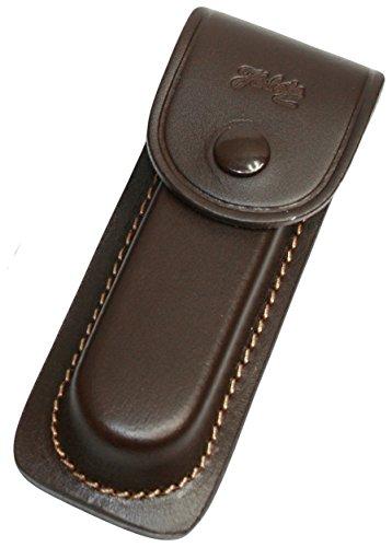 Jowiha Étui en cuir marron avec coutures en 3 tailles pour 9 11 13 cm avec passant de ceinture Marron 9 cm, 11 cm, 13 cm