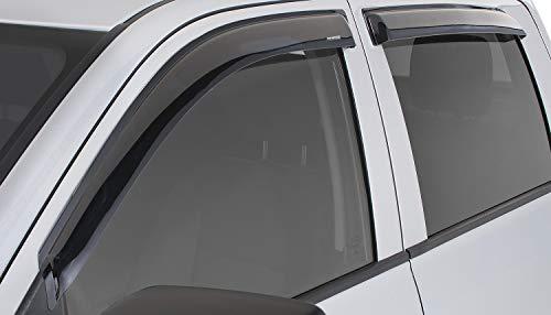 Stampede 6010-2 Tape-Onz Smoke Sidewind Window Deflectors, 4-Piece Set for 2019 Silverado & Sierra 1500 Double Cab