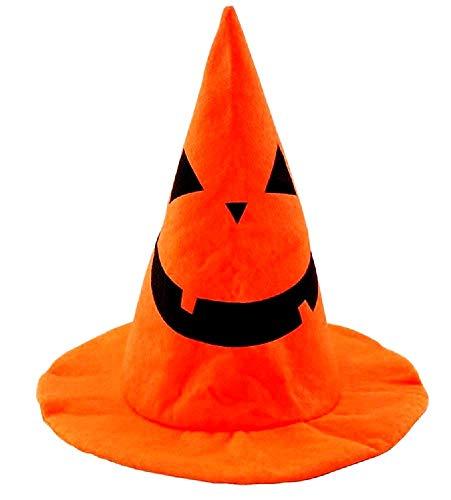 Heksenhoed - kegel - accessoires - hoofdtooi - vermomming - carnaval - halloween - kostuum - pompoen - oranje - zwart - kinderen - origineel idee voor een verjaardagscadeau voor kerstmis cosplay