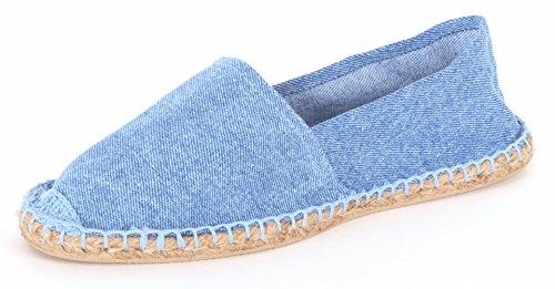 Sommerlatschen Espadrilles, Jeans, vollgummiert, NEU, Unisex, Größe 45, SL1401-0009