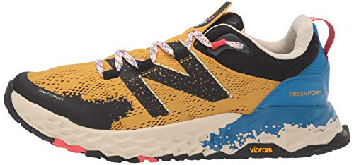 New Balance Men's Fresh Foam Hierro V5 Trail Running Shoe, Varsity Gold/NEO Classic Blue, 11.5 D US 2
