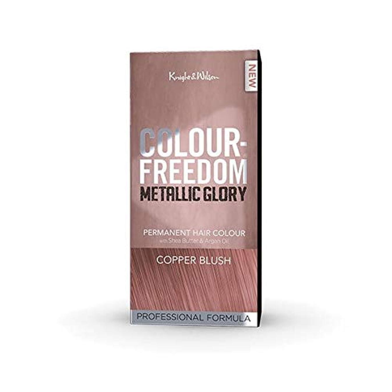 自伝浮く教養がある[Colour Freedom ] 色自由金属栄光銅赤面 - Colour Freedom Metallic Glory Copper Blush [並行輸入品]