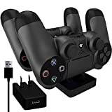 Ortz PS4 Charging Station + Free 10ft USB Cable w/AC...