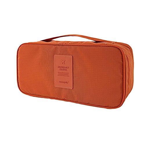 DELEY Portable Imperméable Soutien-Gorge Organisateur Bag Cosmétiques Sac De Rangement Marron