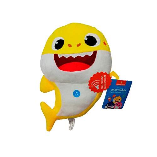 Baby Shark Peluche con Sonido del bebé tiburón de la canción Infantil, 26 CM (10