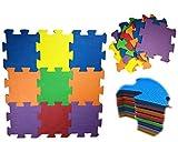 Alfombra goma puzzle rompecabeza para habitación de juego de bebe protectora de suelos para niños 9 piezas de espuma entrelazables multicolor Unisex Eva 32x32x1cm para niño niña sin dibujo