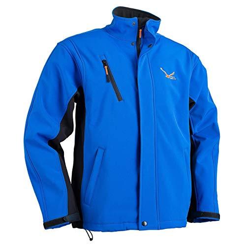 Modern Heatwear Softshell-Jacke mit Heizsystem (L, blau/schwarz)