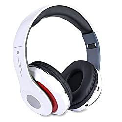 professional Altatac Rechargeable Bluetooth Headset with Foldable Wireless Wired Headphones Storage…