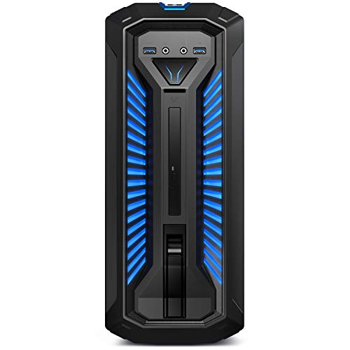 MEDION ERAZER Bandit P10 Gaming Desktop PC (Intel Core i7-10700, 16GB DDR4 RAM, 1TB HDD, 512GB PCIe SSD, NVIDIA GeForce GTX 1660 SUPER 6GB GDDR6, DVD, Hot-Swap, WLAN, Win 10 Home)