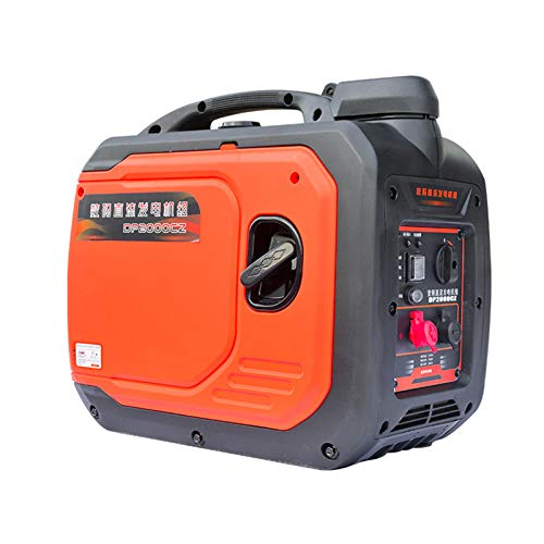 Generador portátil, grupo electrógeno pequeño, generador de gasolina de bajo ruido, arrancador...