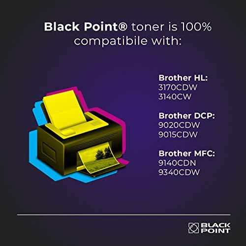 Black Point Cartucho de Tóner para TN-241BK (TN-241) - Negro - para Brother HL: 3170CDW 3140CW DCP: 9020CDW 9015CDW Brother MFC: 9140CDN 9340CDW - Certificado TÜV