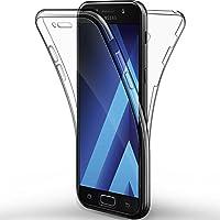 ALSATEK Coque Etui Galaxy A5 2017, Leathlux Silicone Gel Case Avant et Arrière Intégral Full Protection Cover...