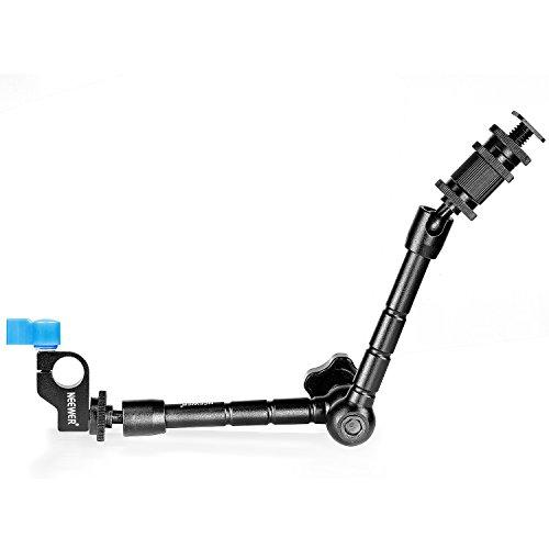 Neewer® 30cm / 11.8inch Aluminiumlegierung gelenkige magischer Arm mit 15mm Stangen Klammer für Licht LED-Montage, Monitor, Blitz an DSLR-Kamera oder DSLR Film Anlage