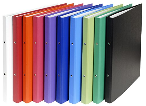 Exacompta 54150E Ringbuch (Festem-Karton, PP, 2 Ringe 15mm, Rücken 20 mm, DIN A4) zufällige Farbe