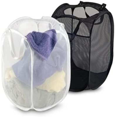 Kuber Industries™ Large Mesh Laundry Basket Set of 3 Pcs Combo (Assorted Color) Code-11